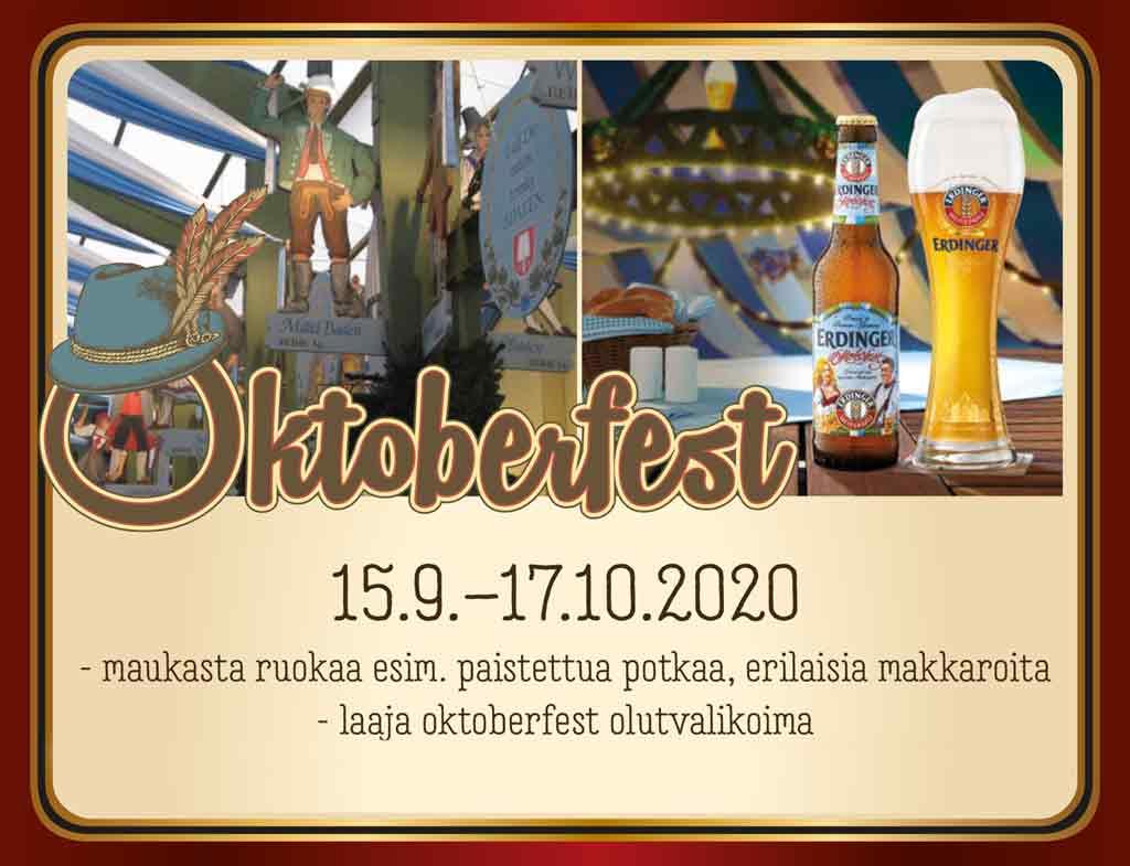 Tervetuloa Oktoberfestiin 15.9.–17.10.2020!